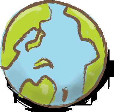 地球儀-01の無料イラスト ...