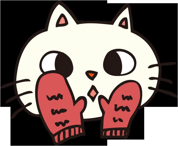 赤い手袋の猫
