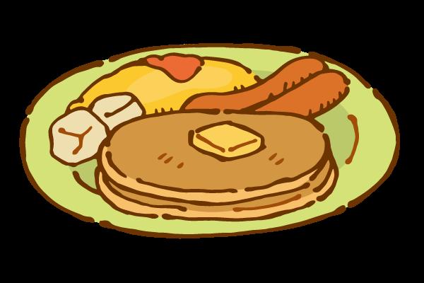 朝食(パンケーキ)