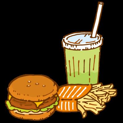 ファストフード(ハンバーガー)