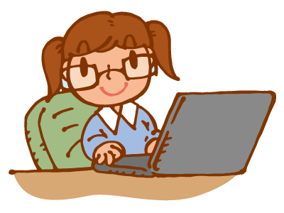 ノートパソコンを使う女の子3
