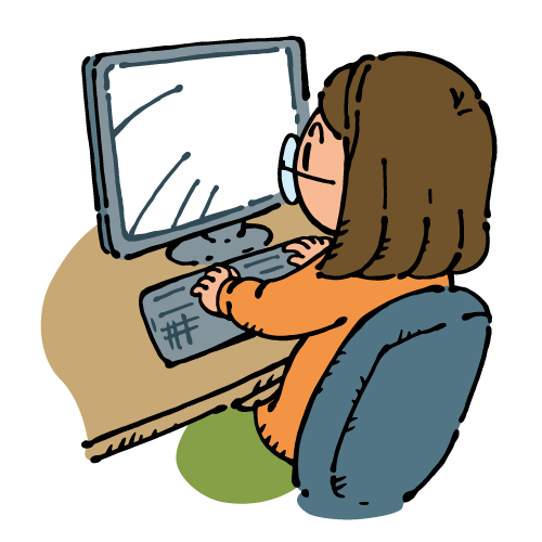パソコンを使う女の子3