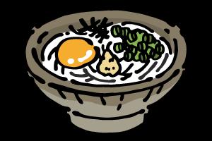 讃岐うどん(釜玉)