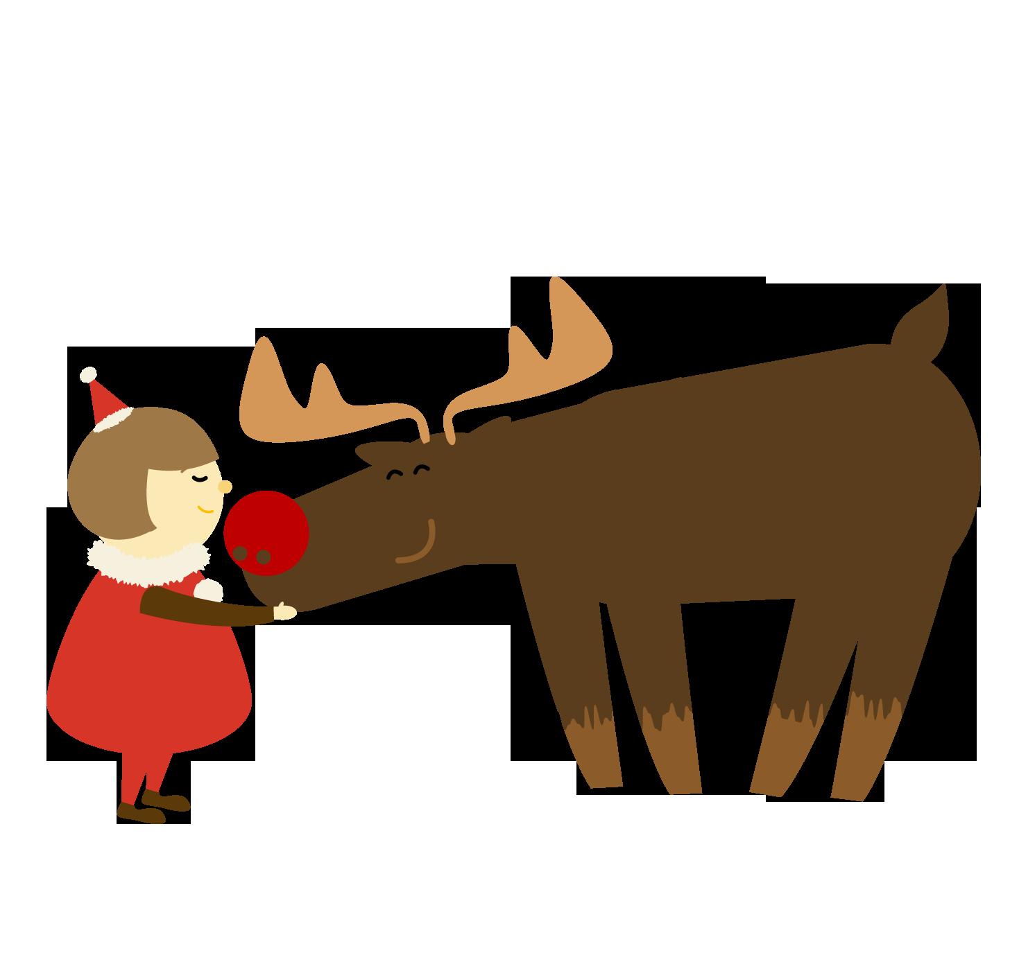 サンタと子供のイラスト | かわいいフリー素材が無料のイラストレイン