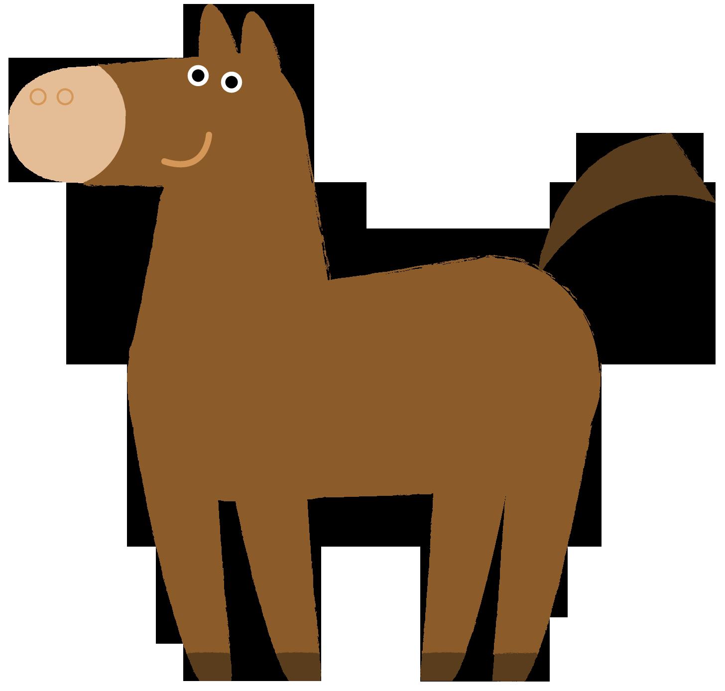 干支 馬のイラスト | かわいいフリー素材が無料のイラストレイン