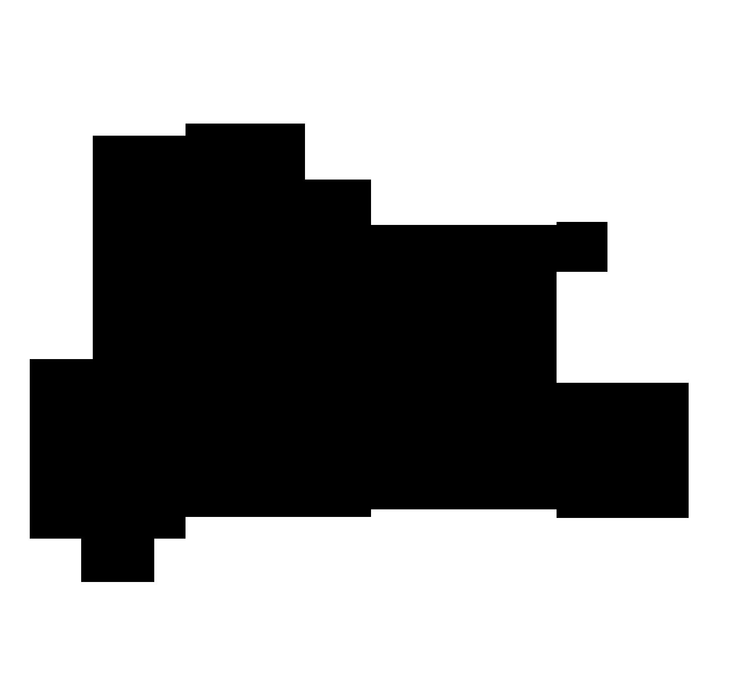 干支 馬(シルエット)のイラスト | かわいいフリー素材が無料の