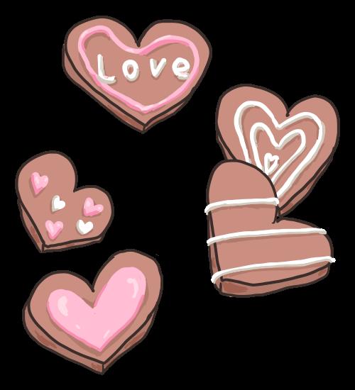 ハートのチョコクッキー