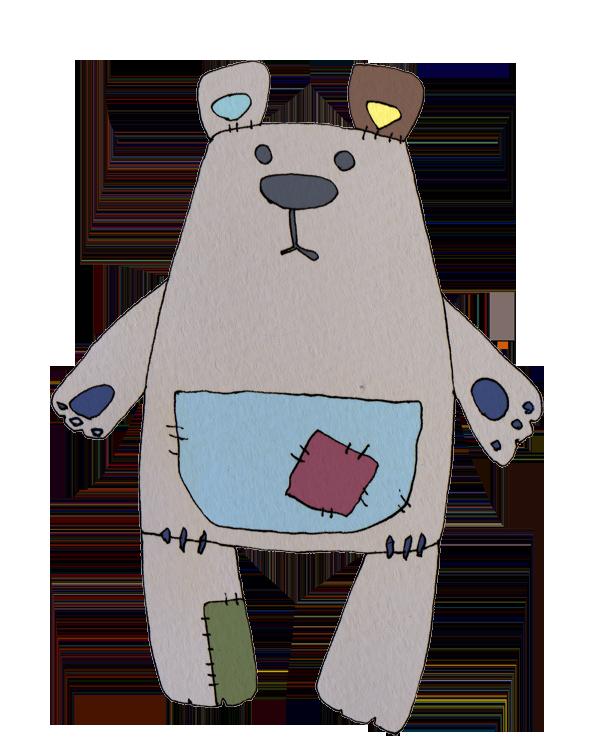 手作りのクマのぬいぐるみ