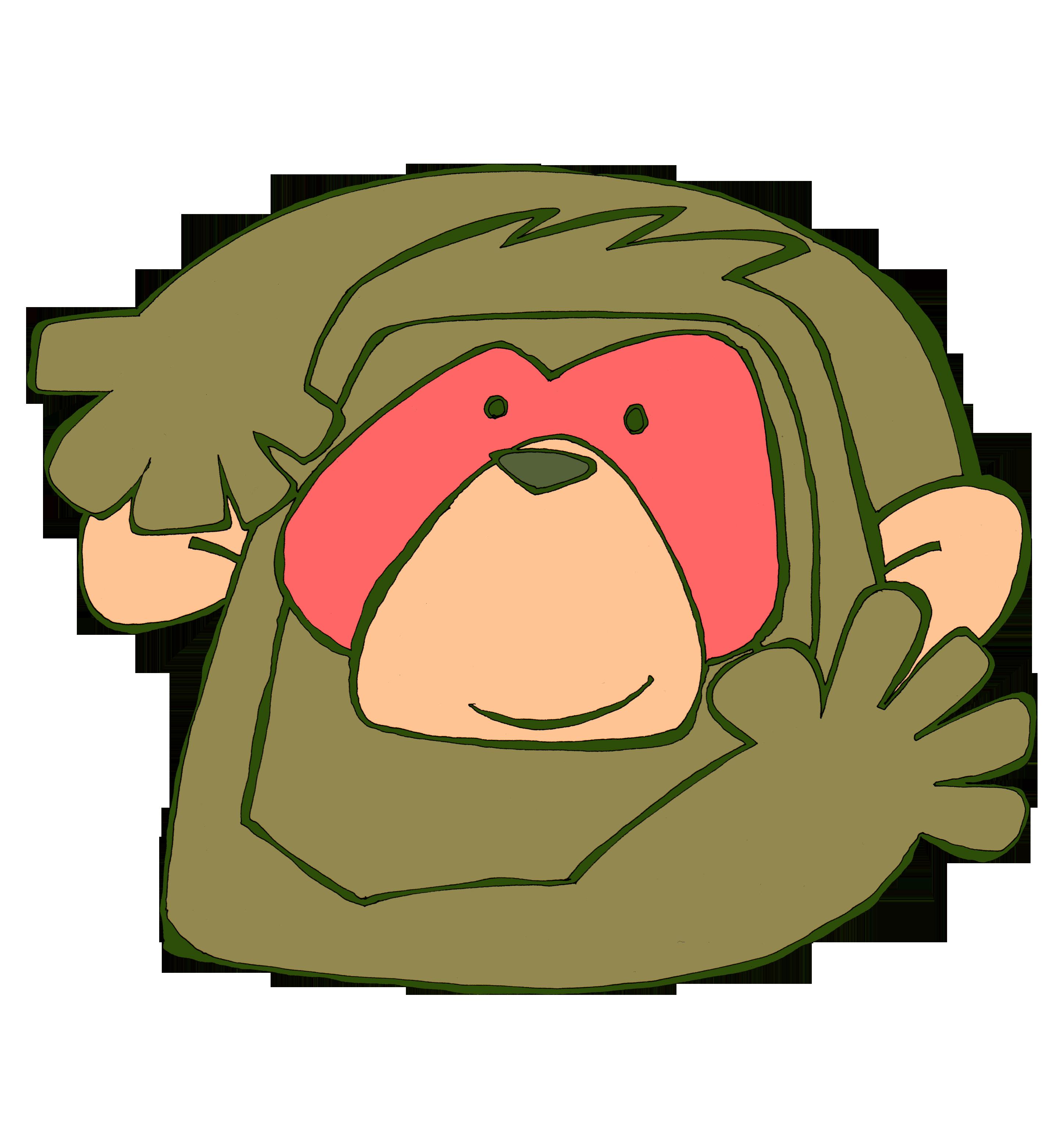 サルのお面のイラスト | かわいいフリー素材が無料のイラストレイン