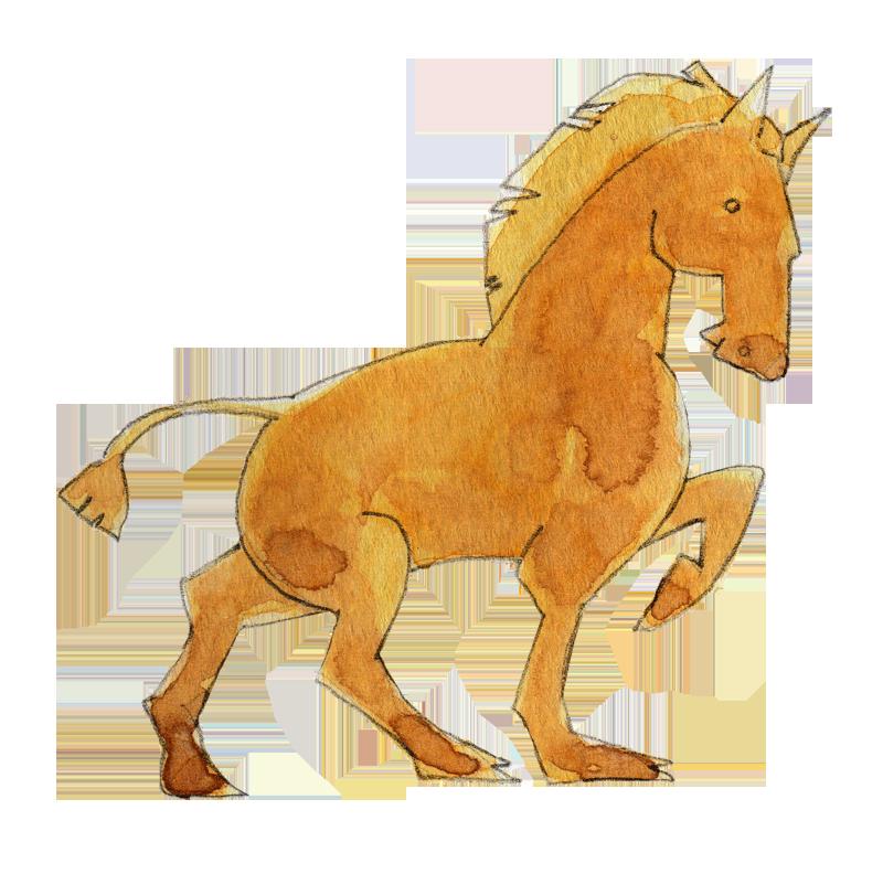 やわらかいタッチの馬