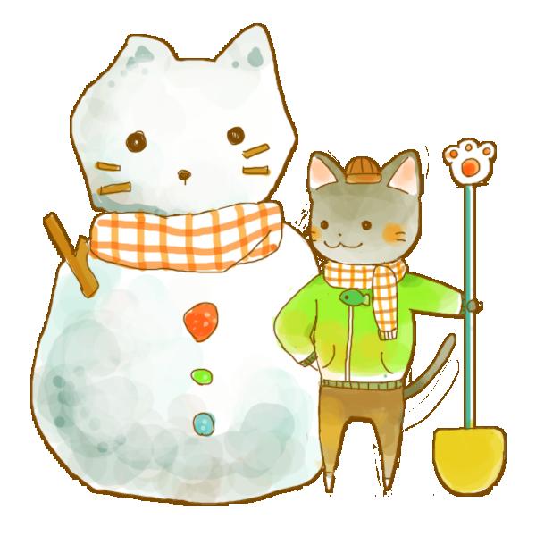 2月猫ちゃんのイラスト かわいいフリー素材が無料のイラストレイン