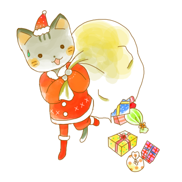 12月猫ちゃんのイラスト かわいいフリー素材が無料のイラストレイン