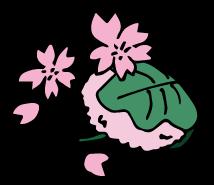 「桜餅 イラスト」の画像検索結果