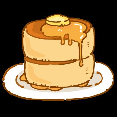 厚みのあるパンケーキのイラスト