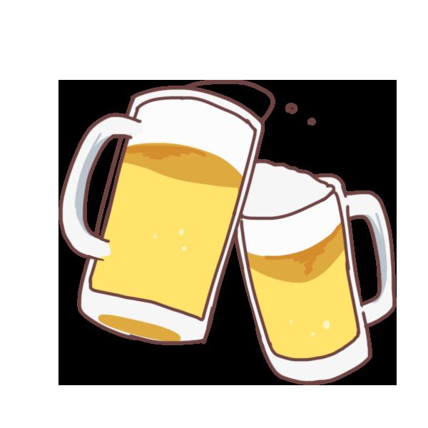 乾杯のイラスト
