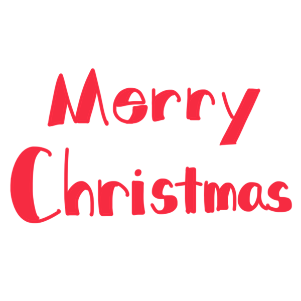 「 Merry Christmas 」文字のイラスト