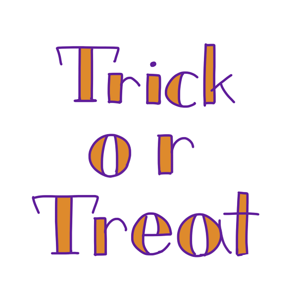 「 Trick or Treat 」文字のイラスト