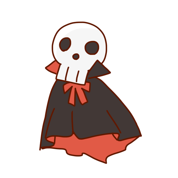 骨のおばけのイラスト