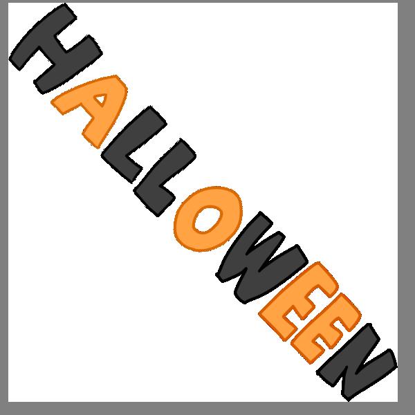 「 HALLOWEEN 」文字のイラスト