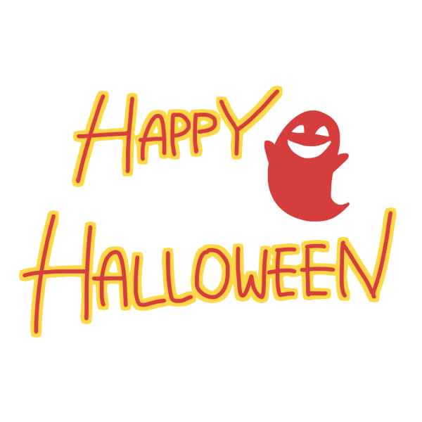 「 HAPPY HALLOWEEN 」文字のイラスト