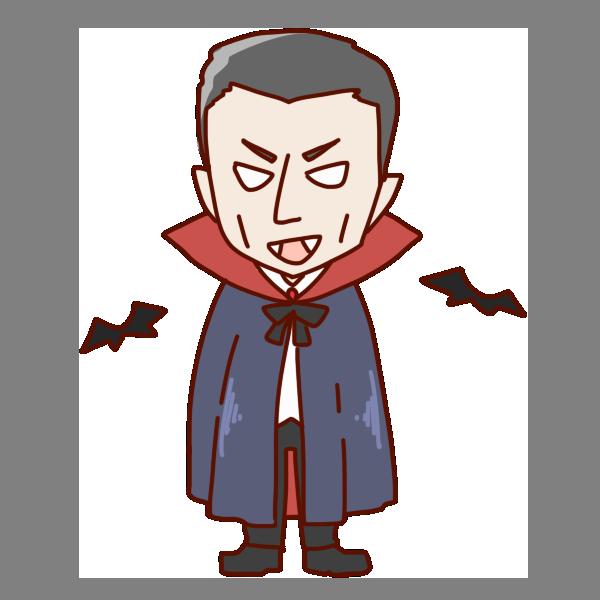 吸血鬼のイラスト