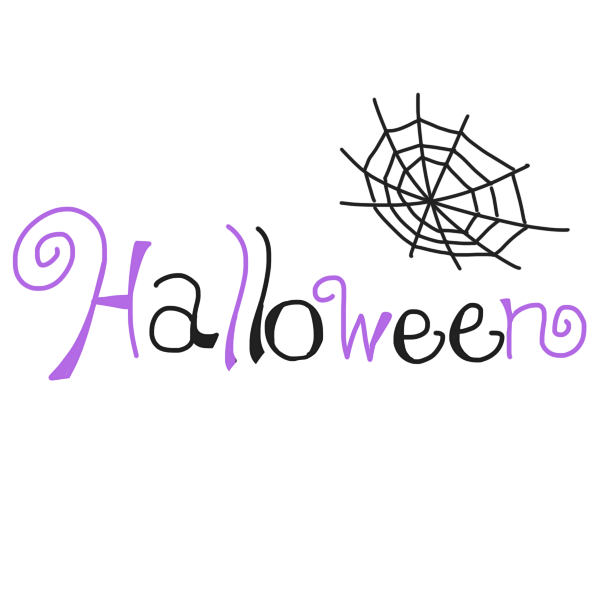 「 Halloween 」文字のイラスト