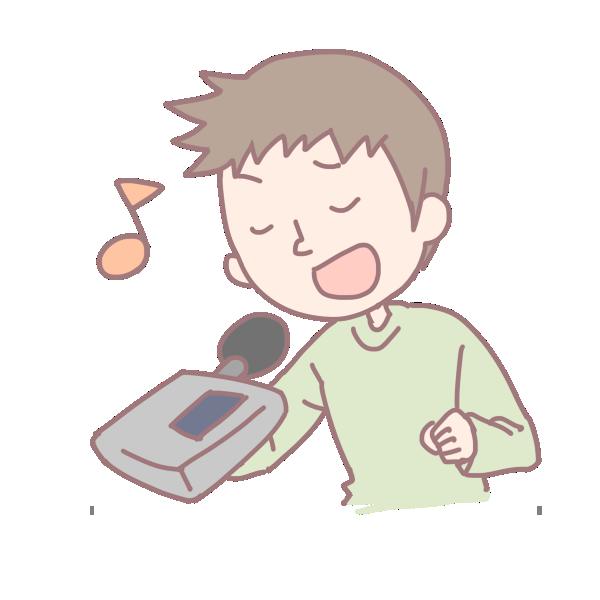 歌を歌う男性のイラスト