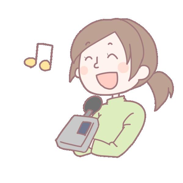 歌を歌う女性のイラスト