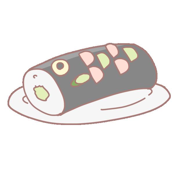 鯉の形のお寿司のイラスト