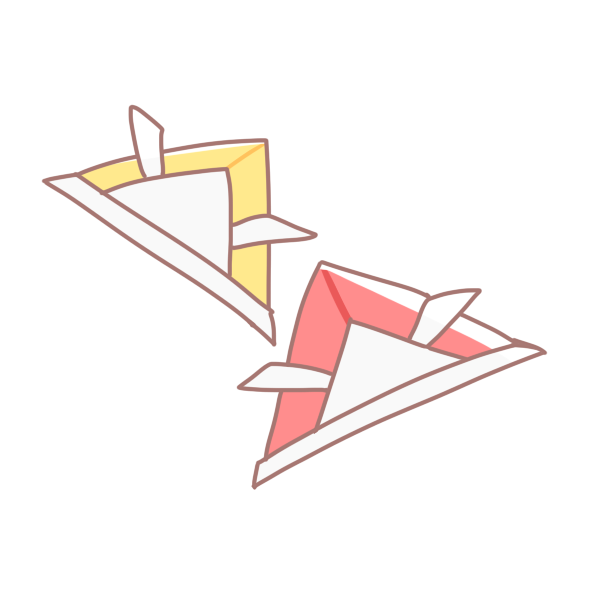 折り紙の兜のイラスト