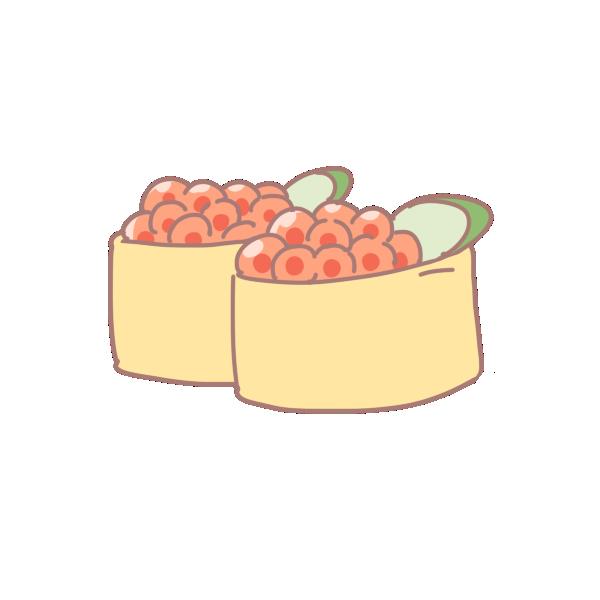 いくらのお寿司のイラスト