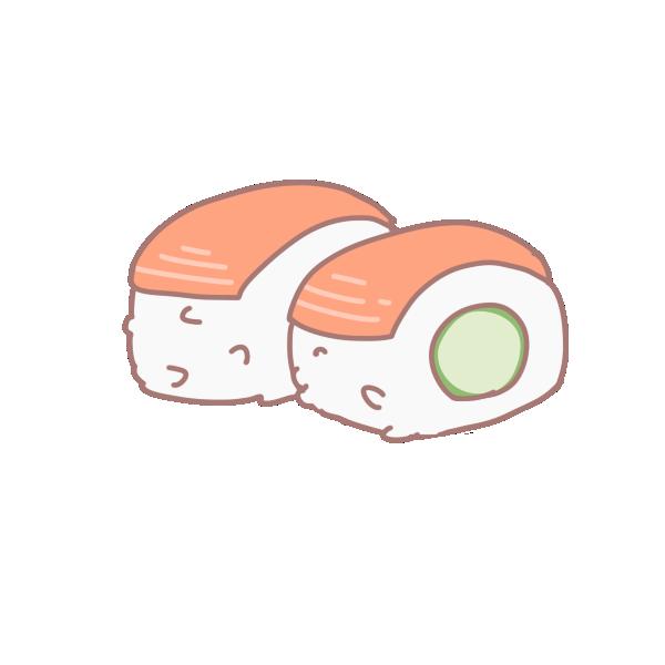 鮭のお寿司のイラスト