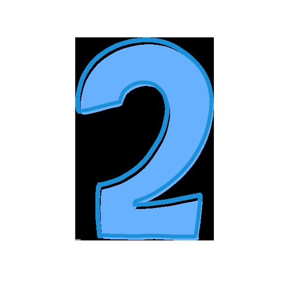 2の数字のイラスト