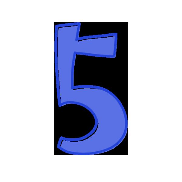 5の数字のイラスト