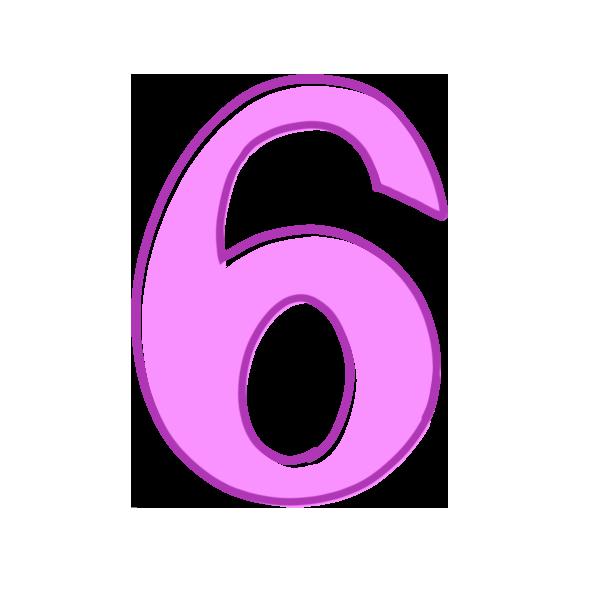 6の数字のイラスト