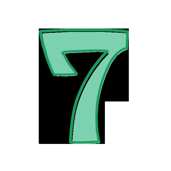 7の数字のイラスト