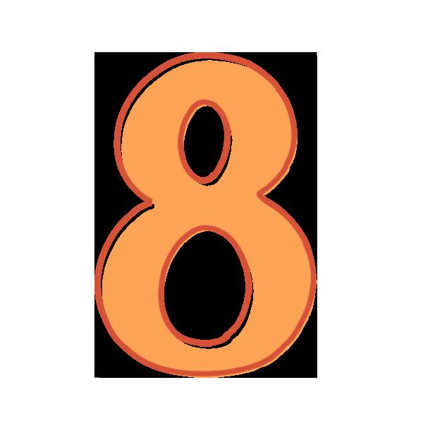 8の数字のイラスト