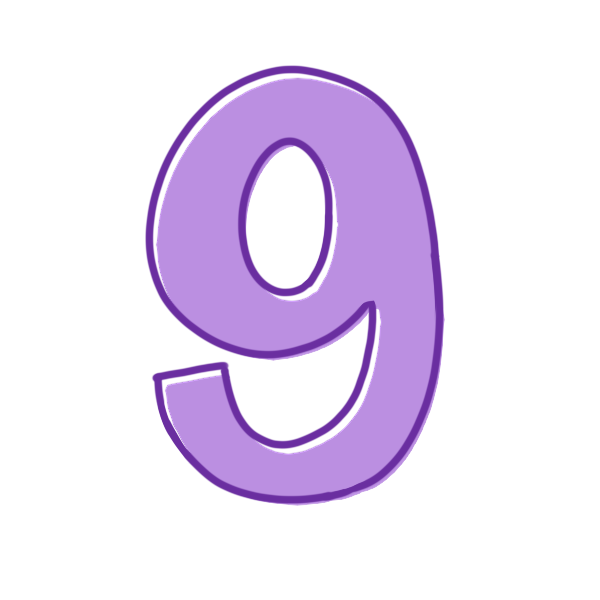 9の数字のイラスト