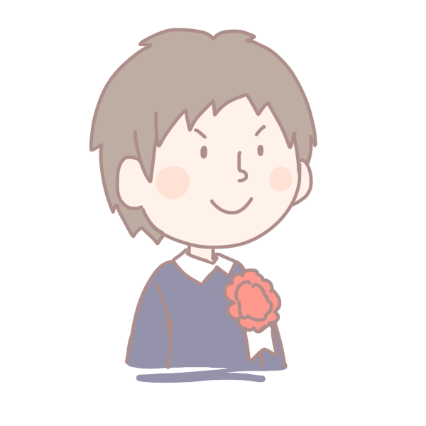 新入生の男の子のイラスト