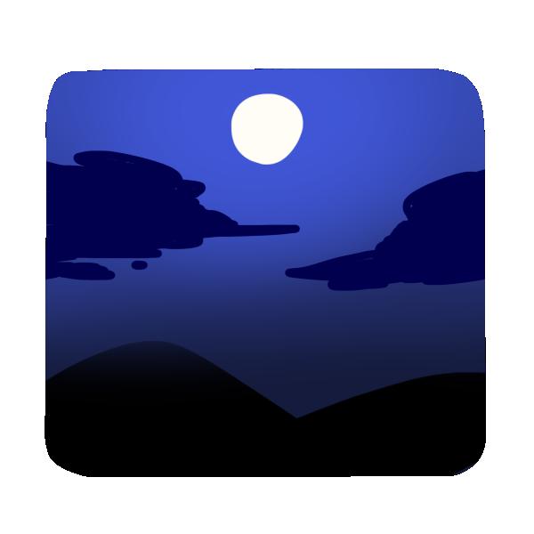 月とススキのイラスト
