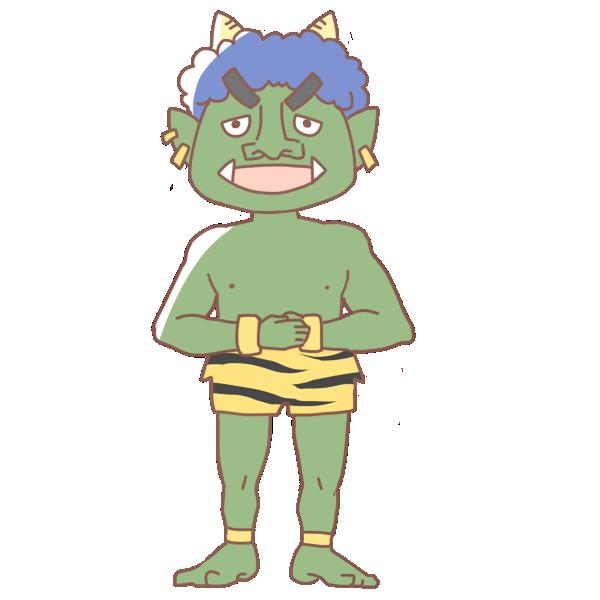 緑鬼のイラスト