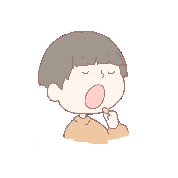 豆を食べる男の子のイラスト