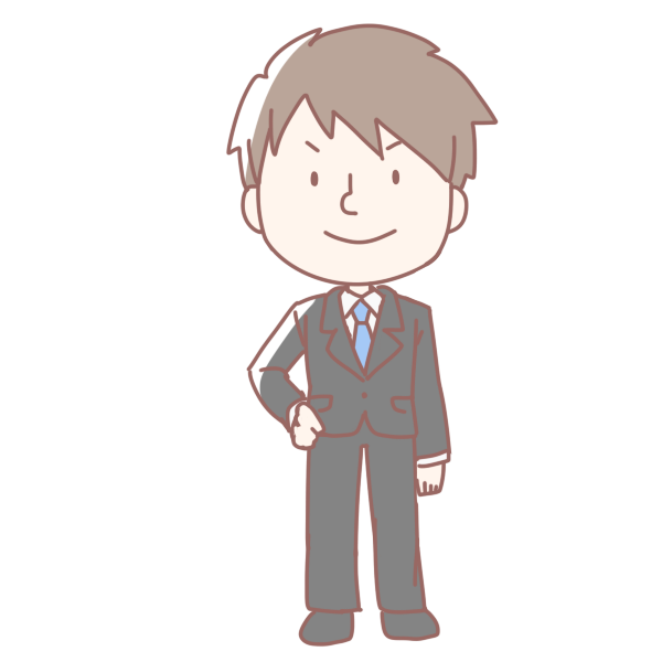 新入社員の男性のイラスト