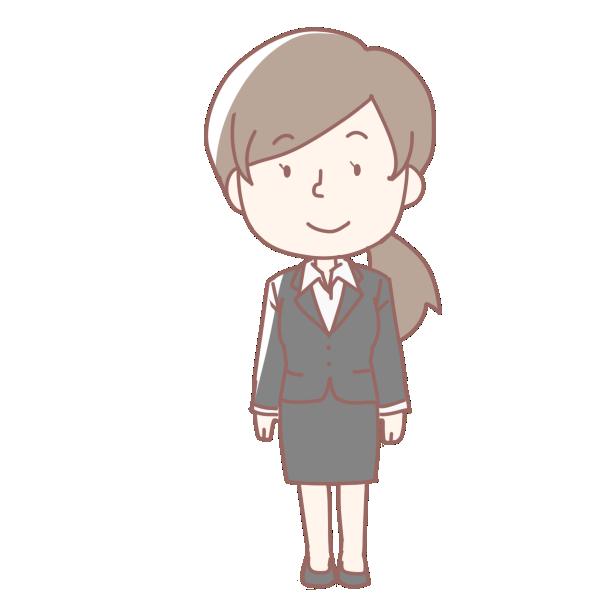 新入社員の女性のイラスト