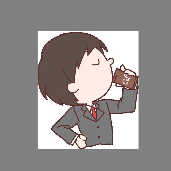 コーヒーを飲むのイラスト