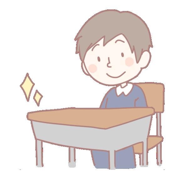 新しい机と椅子のイラスト