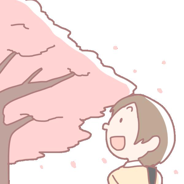 桜の季節のイラスト