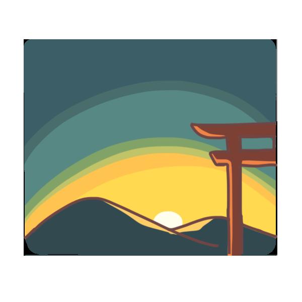 日の出のイラスト
