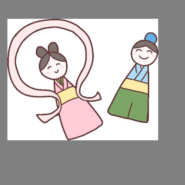 織姫と彦星の飾りのイラスト