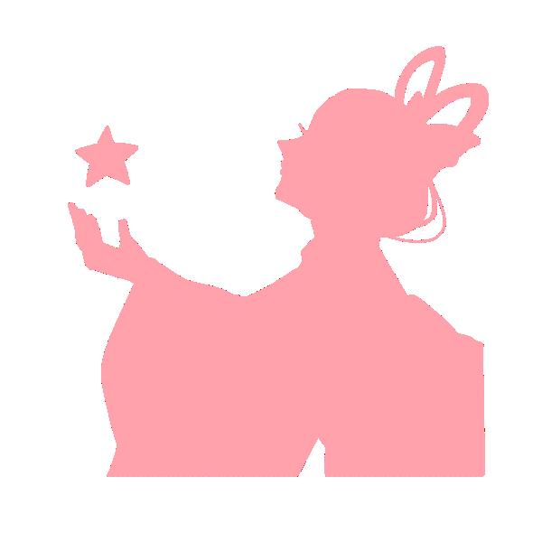 織姫のシルエットのイラスト